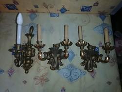 3 darab antik, felújítandó fa falikar