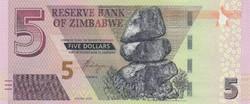 Zimbabwe 5 dollár, 2019, UNC bankjegy