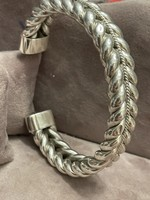 Masszív férfi /uniszex ezüst fonott karperec