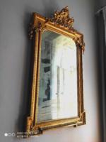 Eredeti antik tükör velencei, gyönyörűen faragva