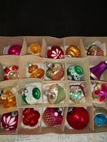 Régi üveg karácsonyfadísz 20 db