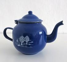 Kék színű zománcos teáskanna