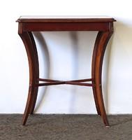 1F382 Antik réz veretes kisméretű empire asztal