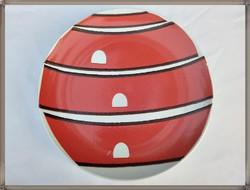 Gyűjtői nagyméretű német iparművész modern porcelán dísztál, dísztányér / Török János /
