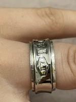 Ezüst 925 gyönyörű gyűrű mozgó belső T&Co