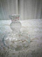 Régi üveg gyertyatartó