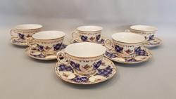 Zsolnay Marie Antoinette 6 személyes kávés, mokkás készlet