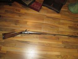 Dupla csövű, Saint Etienne francia kovás barokk vadászpuska