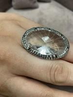Ezüst 925 gyönyörű gyűrű állítható méret