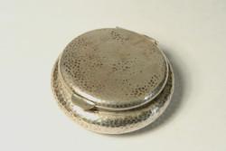 Ezüst Gyógyszeres Szelence Aranyozott Belső 24g d=4cm Gyógyszertartó Doboz Tégely