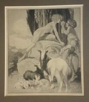 Franz v. Bayros (1866-1924):  Phoroneus