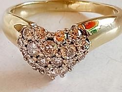 Arany, gyémánt gyűrű