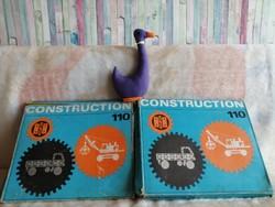 21178A2 Construction 110 retro fém építőjáték 2 db