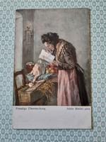 Régi képeslap Wiener Kunst levelezőlap