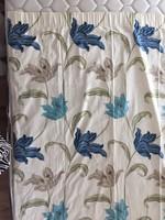 Kész függöny 2 db x112 x 170 cm, a kék virágos díszpárna huzathoz