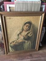 Hangulatos egyházi kép,festmény,nyomat
