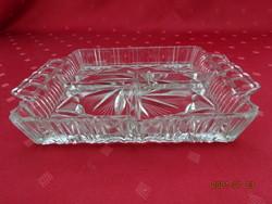 Üveg kínáló, négyzet alakú, három részes, magassága 3 cm. Vanneki!