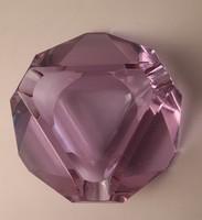 Moser halvány lila csiszolt kristály hamutál, tálka