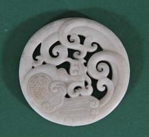 Antik kínai faragott jade talizmán, 18. század