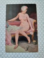 Régi képeslap Degi Gemälde levelezőlap