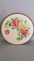 Virágos porcelán tálca, edényalátét