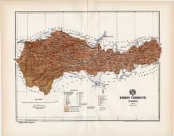 Kolozs vármegye térkép 1894 (5), lexikon melléklet, Gönczy Pál, 23 x 30 cm, megye, Posner Károly