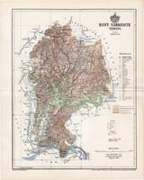 Hont vármegye térkép 1894 (1), lexikon melléklet, Gönczy Pál, 23 x 29 cm, megye, Posner Károly