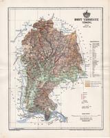 Hont vármegye térkép 1894 (2), lexikon melléklet, Gönczy Pál, 23 x 29 cm, megye, Posner Károly