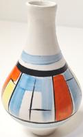 Art deco festésű, retró kis váza