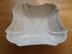 Tirschenreuth Bavaria Baronesse porcelán kínáló pogácsás tál 21 x 21 cm