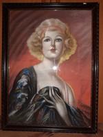 Fried Pál: Női Képmás festmény