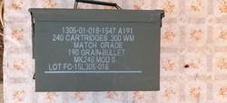 MK248 MOD 0 lőszeres katonai fém üres láda. Akár utánvéttel is !