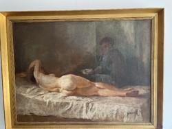 Jánoska Tivadar,  Fekvő Női Akt