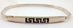Ezüst karkötő görög motívum 925-ös