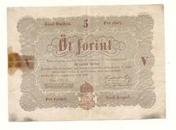 1848 as 5 forint Kossuth bankó papírpénz bankjegy 48 49 es szabadságharc pénze sor cd ű