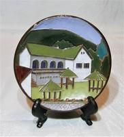 Maurer Katalin - kerámia falitányér, falidísz  - 12 cm