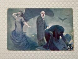 Régi képeslap 1917 E. Kosa művészi levelezőlap
