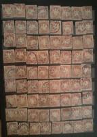 70 darab Bajor korai bélyeg lot egyben Bayern Német Birodalom kb 1875 1888 körüli
