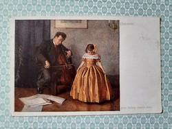 Régi képeslap 1917 Wiener Kunst művészi levelezőlap
