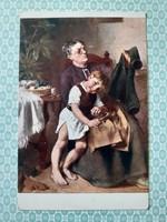 Régi képeslap 1918 művészi levelezőlap