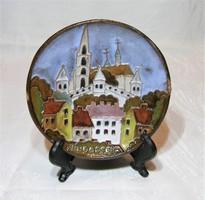 Maurer Katalin - kerámia falitányér, falidísz - Budapest  - 12 cm