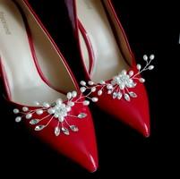 Esküvői, menyasszonyi, alkalmi cipődísz, cipőklipsz ES-CK23