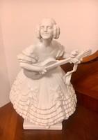 Herendi Déryné porcelán szobor 36 cm!