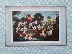 Régi képeslap Domenichino Diana vadászata művészi levelezőlap