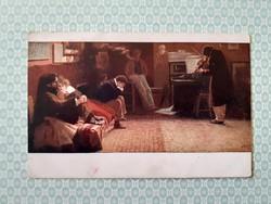 Régi képeslap 1917 Balestrieri Beethowen művészi levelezőlap