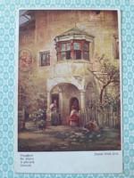 Régi képeslap Wiener Kunst Daniel Hock a pihenők művészi levelezőlap