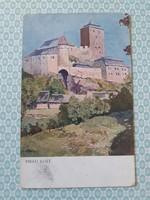 Régi képeslap 1923 C. Macoun Hrad Kost művészi levelezőlap