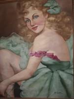Fried Pál Balerina festmény