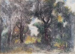 Herman Lipót (1884 - 1972 ) Színes táj