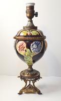 Csodaszép antik majolika asztali lámpa/lámpatest